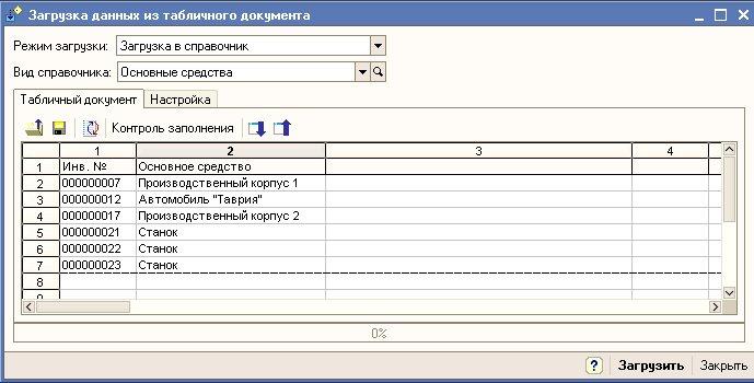 1с как заполнить табличный документ из таблицы значений 1с